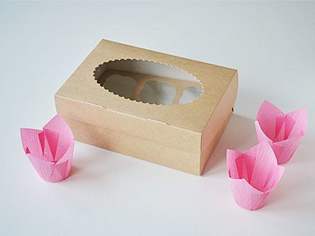Dėžutės keksiukams su įdėklais įvairių dydžių