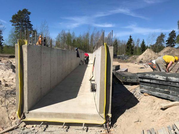 Gelžbetonio konstrukcijų betonavimo darbai