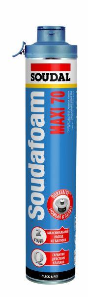 SOUDAFOAM MAXI 70 Click & Fix (padidintos išeigos, profesionalios montažinės putos, poliuretano pagrindu)
