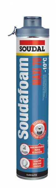 SOUDAFOAM MAXI 70 Click & Fix Winter (žieminės, padidintos išeigos, profesionalios montažinės putos, poliuretano pagrindu)
