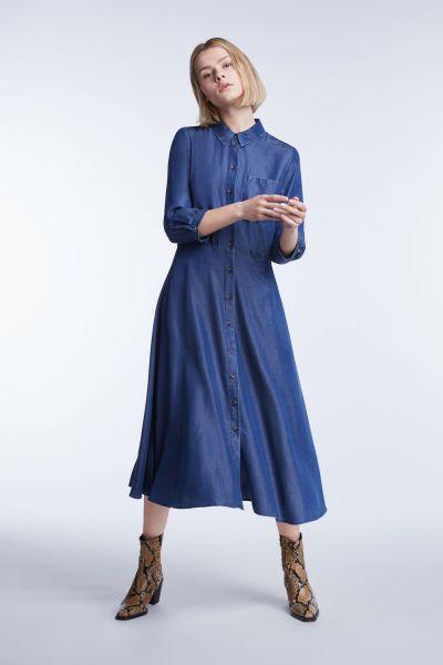 Plono ir minkšto džinsinio audinio SET suknele vasarai