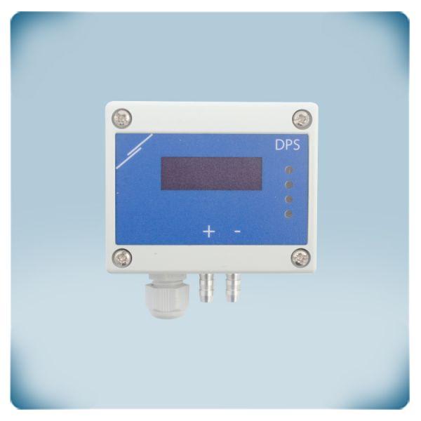 Przetwornik różnicy ciśnień z wyświetlaczem -125 do +125 Pa, zasilanie AC/DC