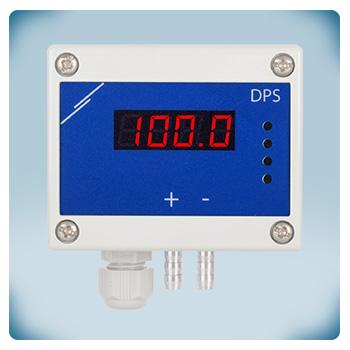 Regulator, przetwornik różnicy ciśnień z wyświetlaczem, -125 do +125 Pa, zasilanie AC/DC