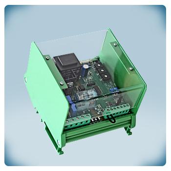 Regulator obrotów wentylatora - elektroniczny z wejściem analogowym i TK na szynę DIN