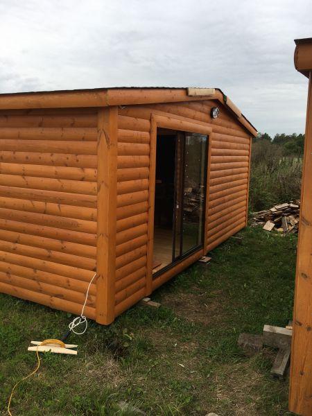 Pirtis sauna 6x2,5 Su stumdoma vitrina