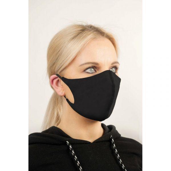 Juoda apsauginė veido kaukė