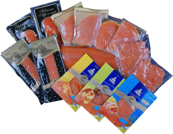 Pakavimo plėvelės, vakuuminiai maišeliai, padėkliukai, kibirėliai žuvies gaminiams
