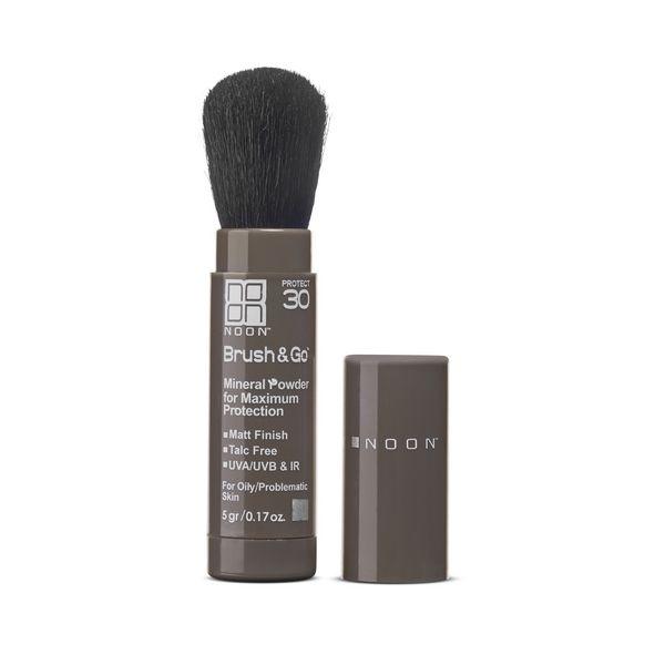 NOON AESTHETICS Brush&Go Mineral Sun Protection Powder SPF 30 (Riebiai/probleminei odai)