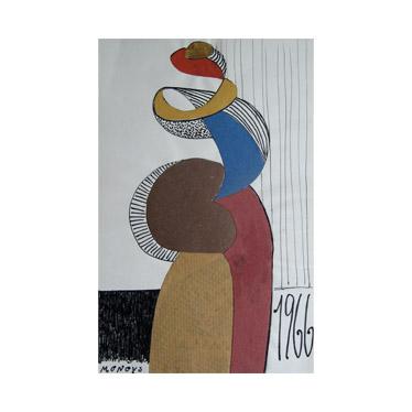 Antano Mončio kūriniai - koliažai
