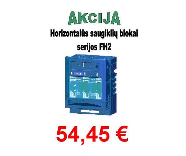 Saugiklių blokas 3pol. 2 horiz. 400A FH2-3A/F (14368)