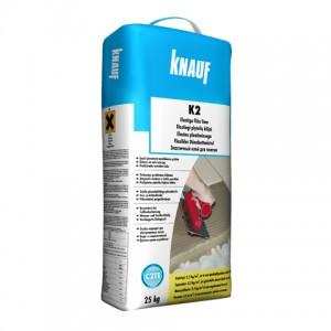 Elastingi plytelių klijai Knauf K2 25kg