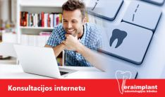 Odontologo konsultacija internetu