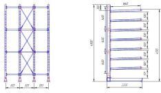 Stelažų projektavimas, braižymas. Tel. +370 600 65355