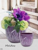 Keraminis gėlių vazonas MELDAS