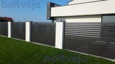 Polisadinės tvoros, metalinių profilių tvoros