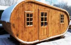 išskirtinio dizaino pirtelė, sauna