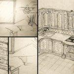 Virtuvės mediniai baldai