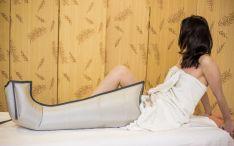 Limfodrenažinis masažas kompresinės terapijos aparatu
