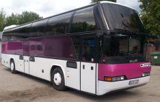 Rožinis autobusas