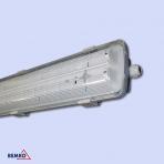 Led šviestuvas 2x18W (1,20m) IP65 su integruotomis lempomis