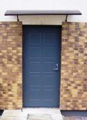 Lauko durys su MDF