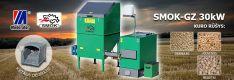 Biomasės deginimo kompleksas SMOK AZSB-GZ 30 kW (ketaus)