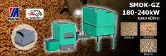Biomasės deginimo kompleksas SMOK AZSB-GZ 180-240 kW (ketaus)