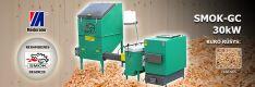 Biomasės deginimo kompleksas SMOK AZSB-GC 30 kW (keramikinis)