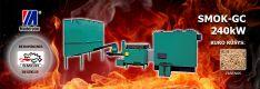 Biomasės deginimo kompleksas SMOK AZSB-GC 240 kW (keramikinis)