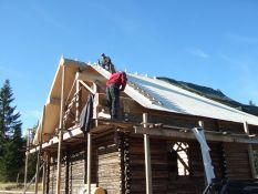 Medinių namų statyba