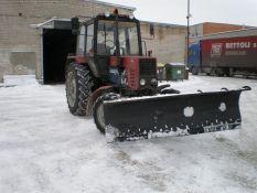 Takų, kelių, aikščių, aikštelių mechanizuotas valymas žiemos metu