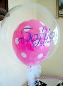 Dvigubas balionas su vardu