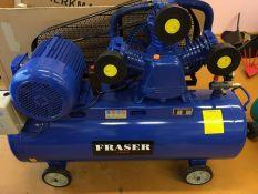 Tepalinis oro kompresorius FRASER 3cilindrai / 180L