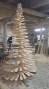 Kalėdinė medinė eglutė
