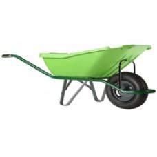 Karutis (110L) Wheelbarrow pick UP Green plastic, 1-ratas 5200_G
