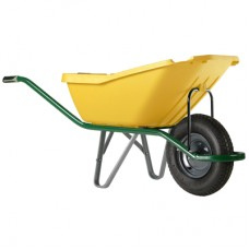 Karutis plastikinis Wheelbarrow pick UP YL (110L) geltonas, 1-ratas 5200_GY