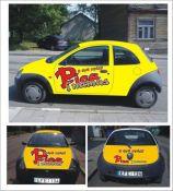 Reklama ant automobilių