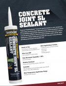 Titebond® WeatherMaster™ Concrete Joint SL - Savaime Išsiliejantis Polimerinis Hermetikas Grindų Siūlėms ir Įtrūkimams