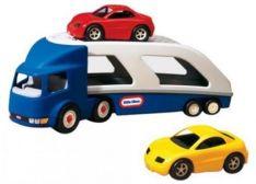 Mašina autovežis su 2 mašinomis , Little tikes
