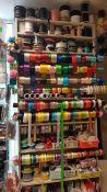 Įvairios atlasinės juostelės, virvutės, kanteliai