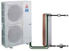 Oras-vanduo sistema su šilumokaičiu (katilinė komplektuojama iš atskirų komponentų)