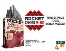 Portlandcementis ROCKET M-600 CEM I 42,5R, 35 kg