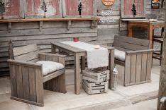 "Lauko baldų komplektas ""California"" su minkšta dalimi"