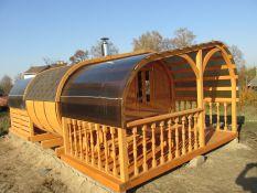 Elipsės pirtis su terasa (sauna)