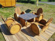 Lauko baldai iš medžio