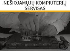 Nešiojamų kompiuterių servizas