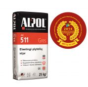 Elastingi įvairių plytelių klijai šildomoms grindims ALPOL AK 511 25 Kg