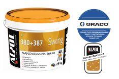 NANO silikoninis tinkas samanėlė 1,0 mm ALPOL AT 380 25 Kg (PURŠKIMUI)