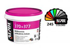 Silikatinis silikoninis tinkas lietutis-raižytas ALPOL AT 377 2,0 mm 25 Kg