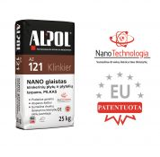 Pilkas nano-mišinys klinkerio plytelių siūlių glaistas ALPOL AZ 121 25 Kg (STAMBIAGRŪDIS)